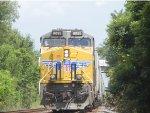 UP 8095 is DPU on SB Grain Train